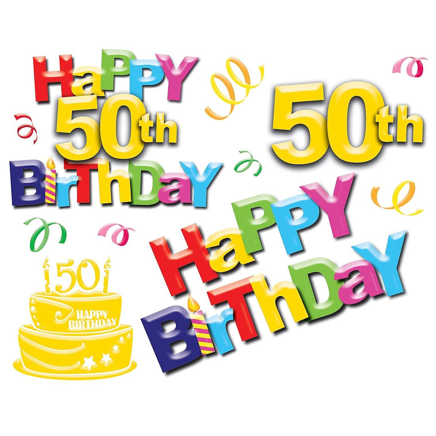 50th birthday banner clipart vector black and white Free Fiftieth Birthday Cliparts, Download Free Clip Art, Free Clip ... vector black and white