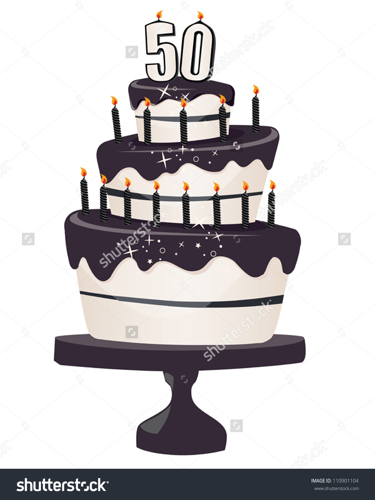 50th birthday cake clipart image transparent stock 50th birthday cake clipart - ClipartFest image transparent stock
