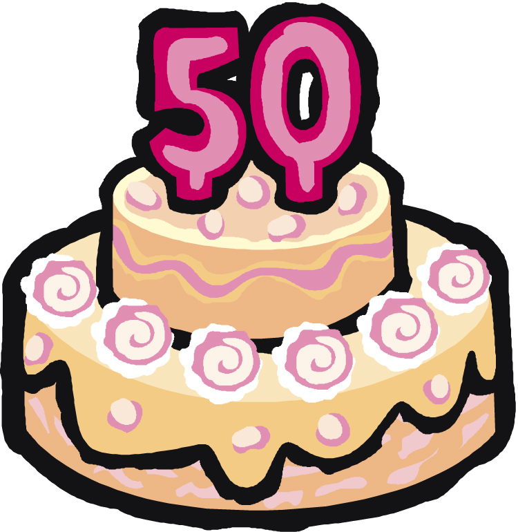 50th birthday cake clipart clip black and white download 50 Birthday Cake Clipart - Clipart Kid clip black and white download