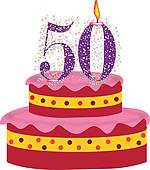 50th birthday cake clipart jpg library download 50th birthday cake clipart - ClipartFest jpg library download
