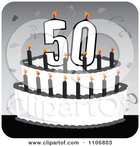 50th birthday cake clipart png freeuse 50th birthday cake clipart - ClipartFest png freeuse