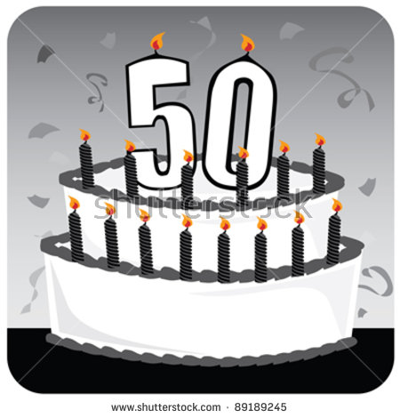 50th birthday cake clipart clip art freeuse download 50th Birthday Stock Images, Royalty-Free Images & Vectors ... clip art freeuse download