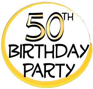 50th birthday party clipart clip art black and white stock Fiftieth Birthday Cliparts - Cliparts Zone clip art black and white stock