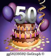 50th birthday party clipart clip freeuse download 50Th Birthday Clip Art - Royalty Free - GoGraph clip freeuse download