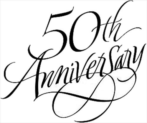 50th wedding anniversary black and white clipart graphic black and white stock Anniversaries - www.waterloochronicle.ca | WaterlooChronicle.ca graphic black and white stock