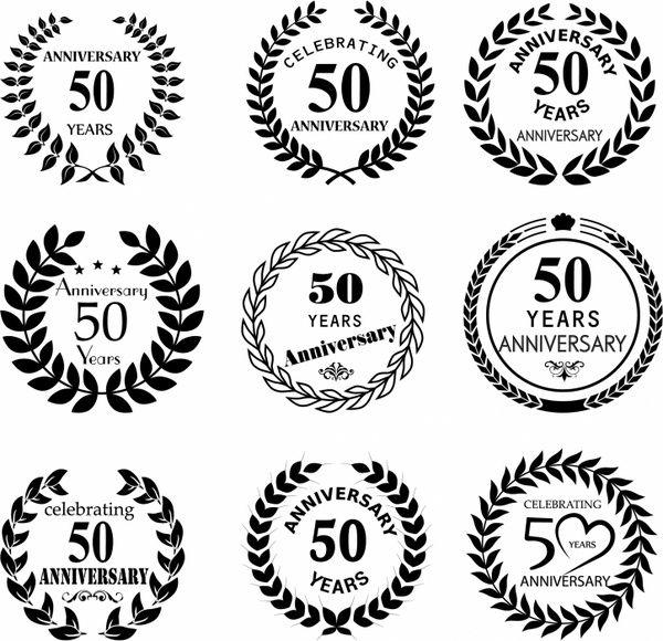 50th wedding anniversary emblem clipart free library 50 years anniversary laurel wreath | Wedding anniversary ... free library