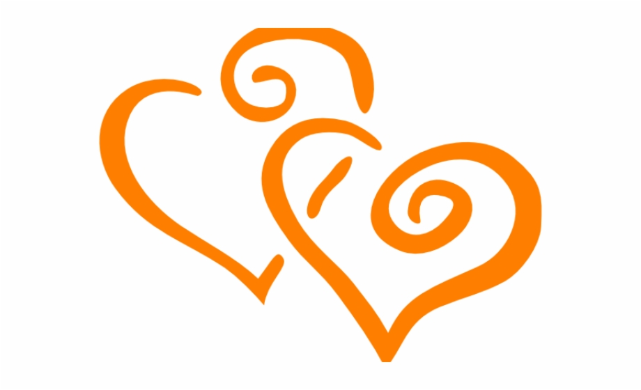 Anniversary hearts clipart image black and white stock Orange Flower Clipart Orange Heart - Clipart Png Golden Wedding ... image black and white stock
