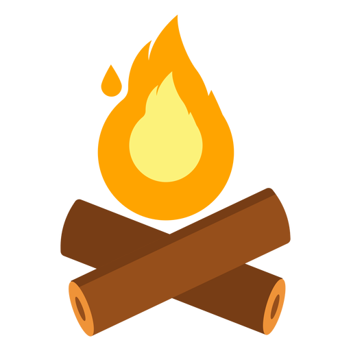 512x512 clipart logs jpg freeuse Fire campfire log flat - Transparent PNG & SVG vector jpg freeuse
