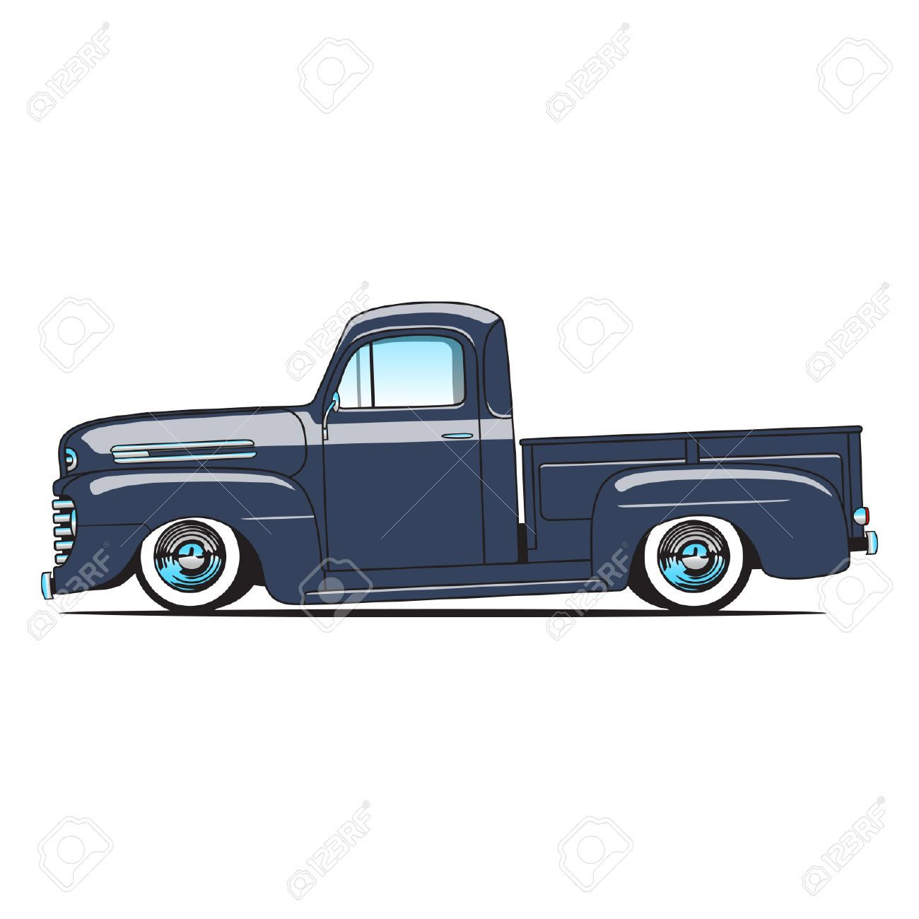 54 ford pickup clipart graphic transparent library 1948-50 Ford F1 Pickup Truck Royalty Free Cliparts, Vectors, And ... graphic transparent library