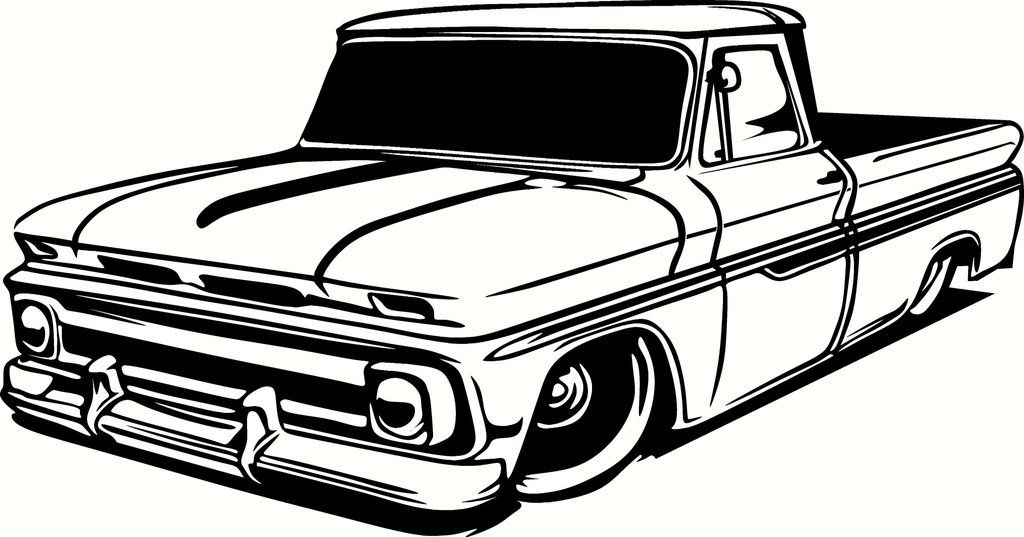 56 chevy truck clipart image Chevrolet Truck Clipart - Alleghany Trees | rat5 | Camiones chevy ... image