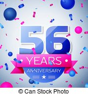56th anniversary clipart clip art library download Vector illustration of happy 56th anniversary celebration with ... clip art library download