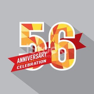 56th anniversary clipart
