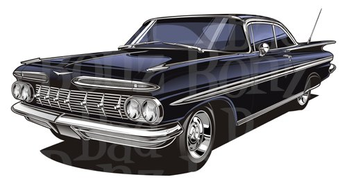 59 chevy impala clipart picture free library 1959 Chevy Impala picture free library