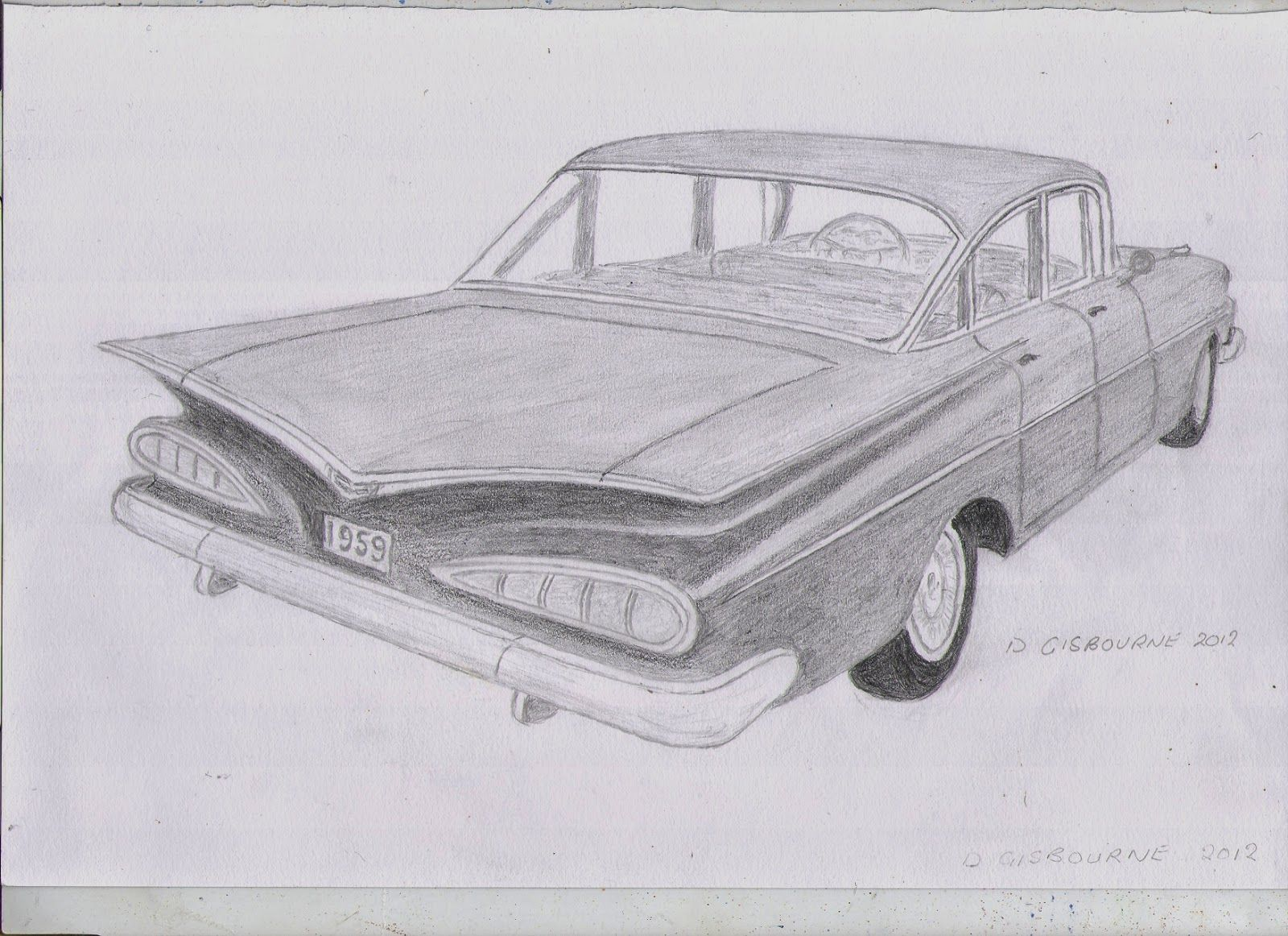 59 chevy impala clipart banner library Pencil drawing of a 1959 Chevrolet Impala | Art in 2019 | Chevrolet ... banner library