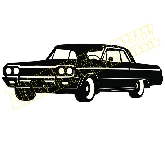 59 chevy impala clipart graphic freeuse library DXF File \