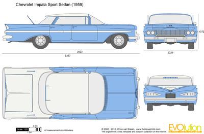 59 chevy impala clipart svg royalty free Chevrolet Impala Sport Sedan vector drawing svg royalty free