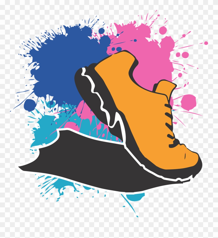 5k running shoe clipart svg royalty free stock 4-h 5k In Hortonville - Cartoon Running Shoe Png Clipart (#698160 ... svg royalty free stock