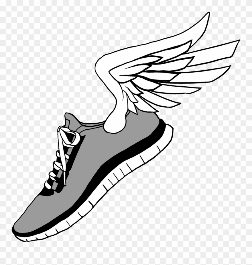 5k running shoe clipart graphic free library Running Shoes Clip Art - Running Shoes With Wings - Png Download ... graphic free library