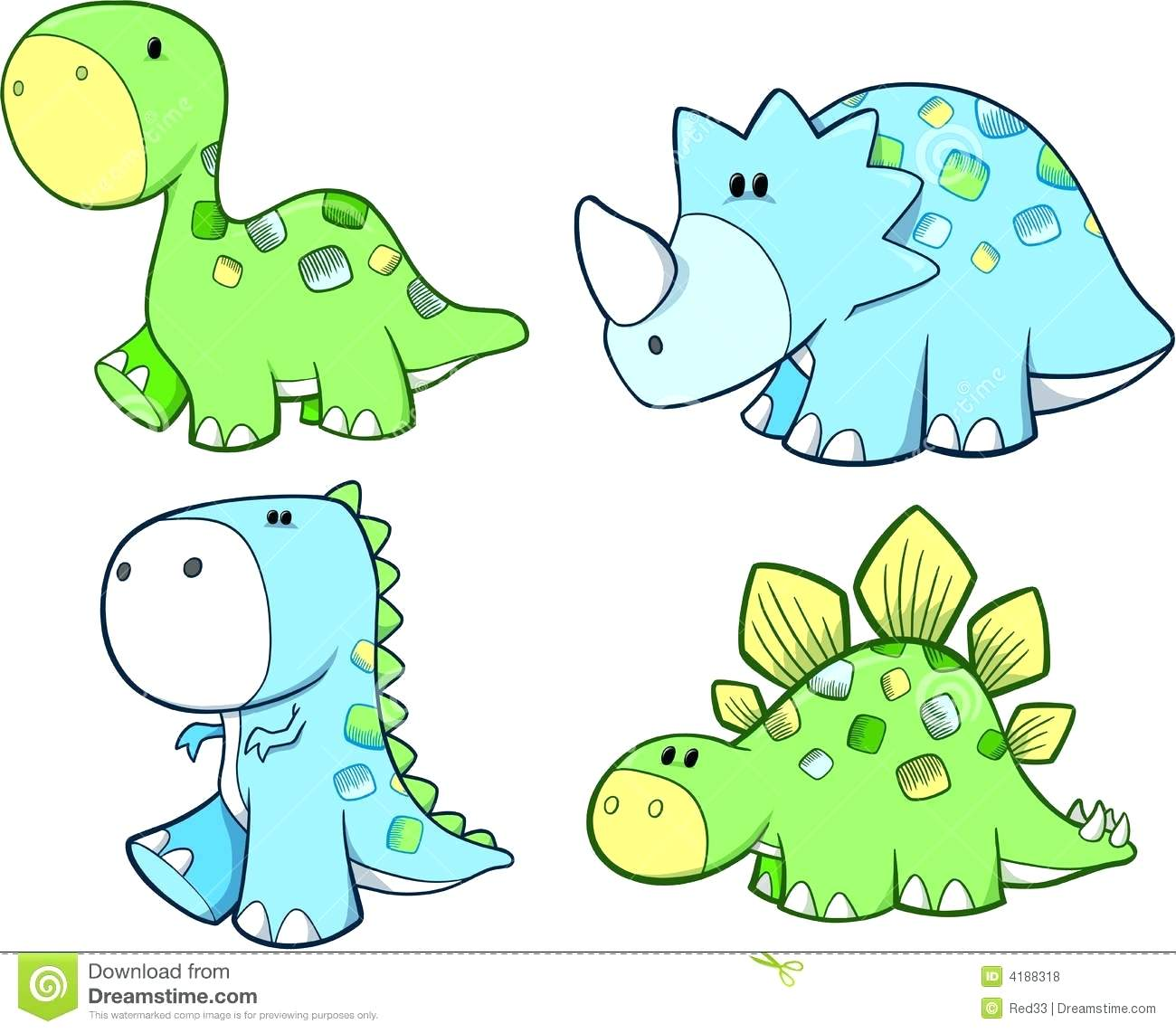 5n little dinosaur clipart