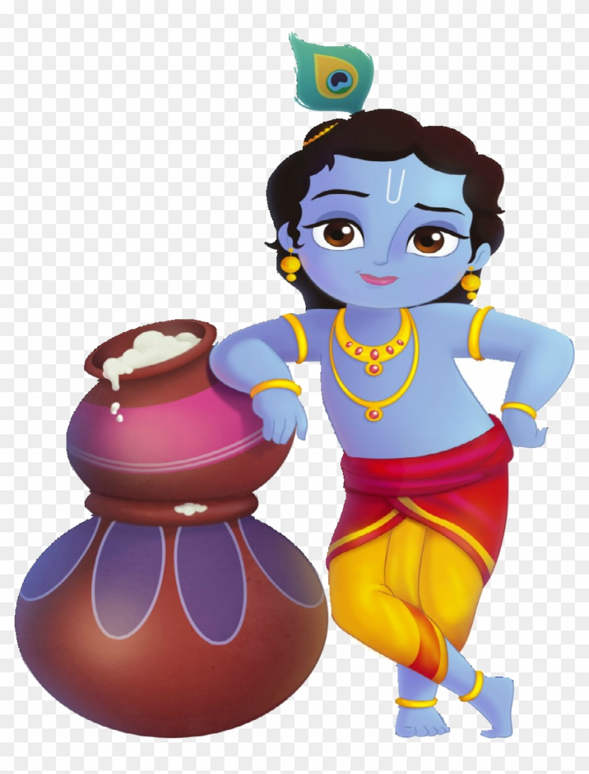 5n little dinosaur clipart png library download Lord Krishna Standing With Makhan - Little Krishna, HD Png Download ... png library download