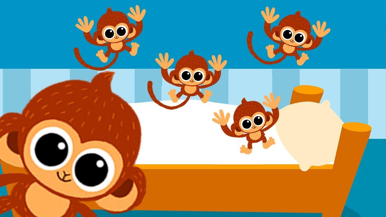 5n little dinosaur clipart jpg free library 5 little Monkeys jumping on the bed nursery rhyme -- Morphle\'s Nursery  Rhymes jpg free library