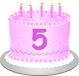5th birthday candle clipart freeuse library 5th birthday cake clipart » Clipart Portal freeuse library