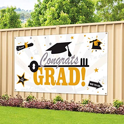 5th grade graduation free clipart green jagaur vector freeuse library Large Fabric Graduation Party Banner 78\'\'x45\'\' for Graduation Party  Supplies 2019, Photo Prop/Booth Backdrop, Graduation Decorations  Indoor/Outdoor vector freeuse library