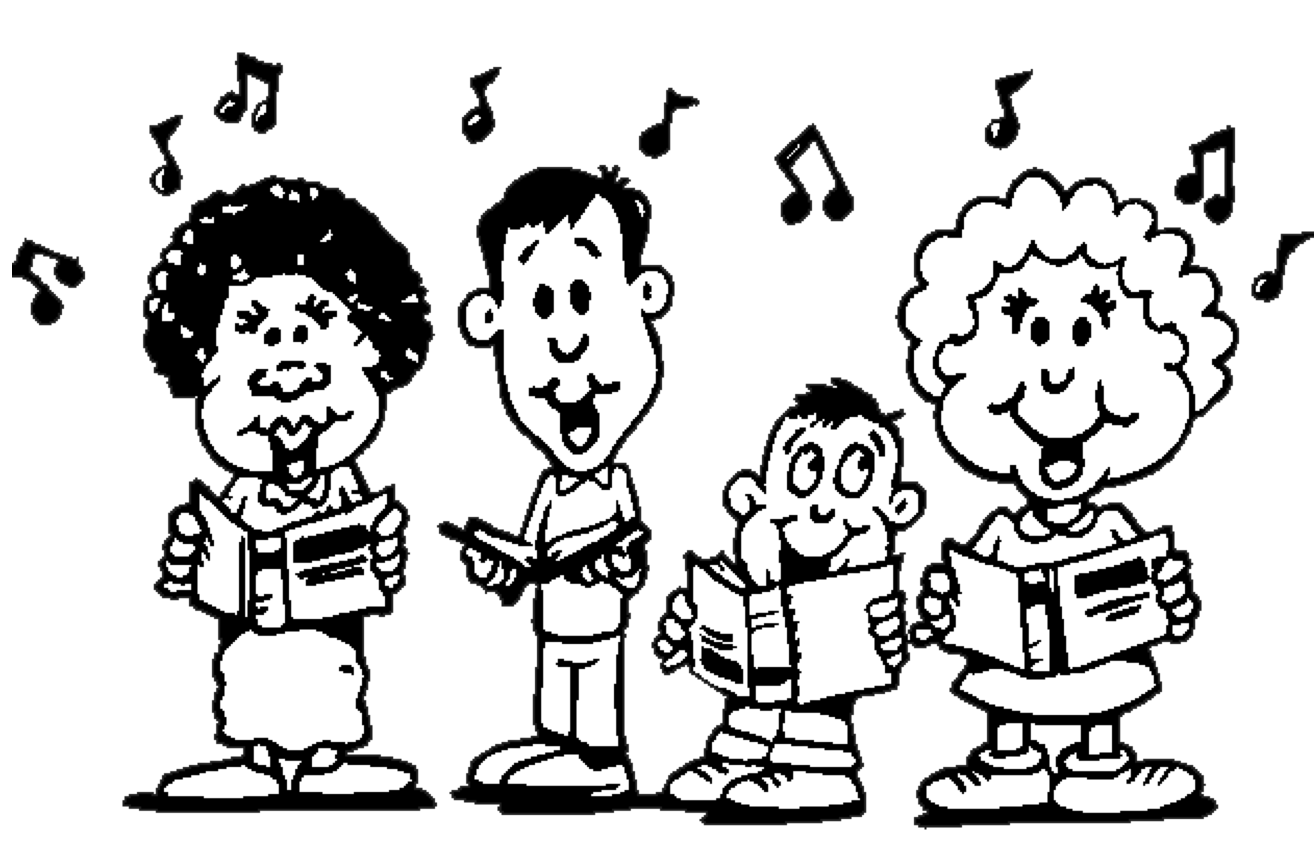 Singing black and white clipart clip freeuse Best Children Singing Clipart #19592 - Clipartion.com clip freeuse