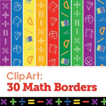 5th grade math border clipart clip art library library Clip Art: 30 Math Borders | Classroom Core\'s TPT Store* | Math ... clip art library library