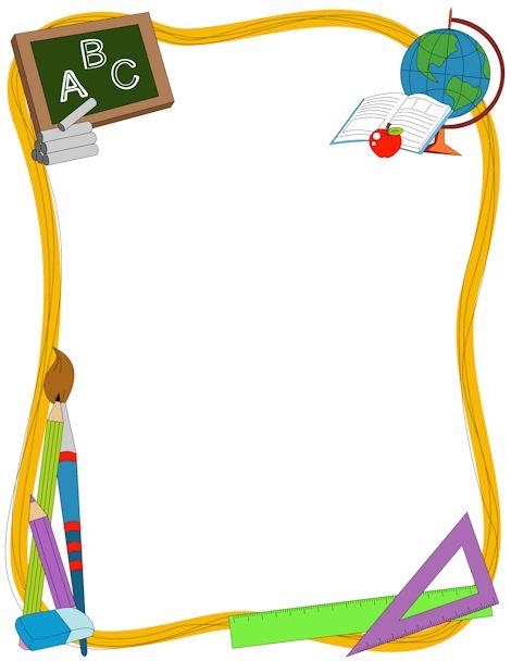 Teacher border clipart free jpg transparent stock Math Page Borders - Cliparts.co jpg transparent stock