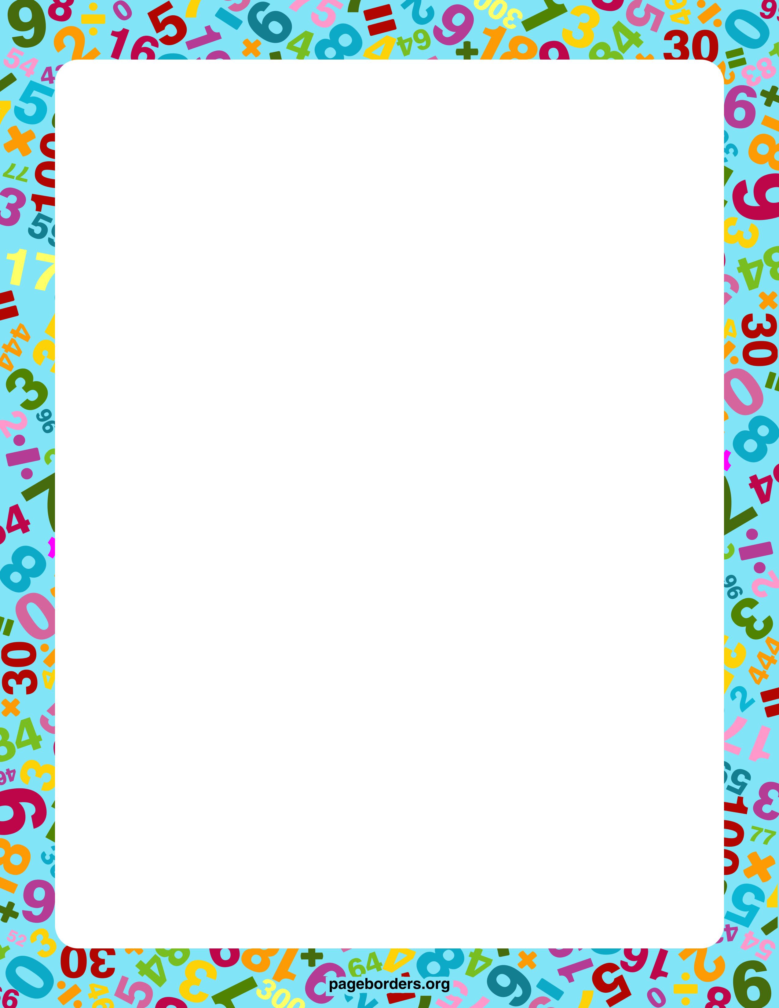 5th grade math border clipart svg free download Math Page Borders - Cliparts.co svg free download