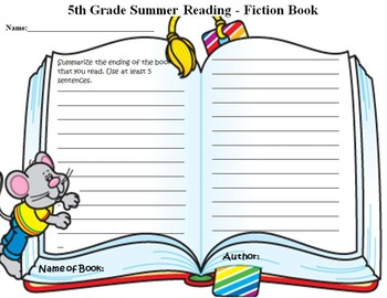 5th grade summer reading clipart clip art black and white download Summer Reading Book Report Grade 5 clip art black and white download