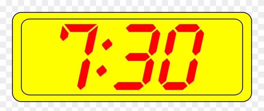 Digital timer clipart image transparent Big Image - Digital Clock 7 30 Clipart (#431255) - PinClipart image transparent