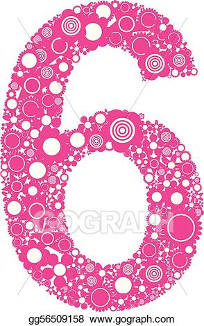 6 clipart numbers vector download Vector Clipart - Number 6. Vector Illustration gg56509158 - GoGraph vector download