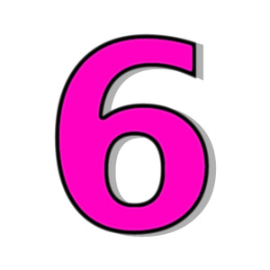 6 clipart numbers picture library 6+ Number 6 Clipart | ClipartLook picture library