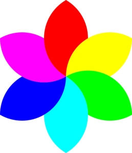 6 Color Football Flower Remix Clip Art at Clker.com - vector clip ... banner free library
