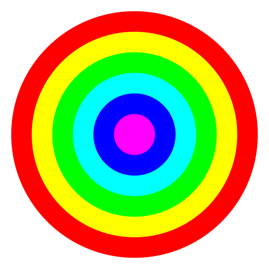 6 color clipart picture transparent download Rainbow circle target 6 color Clipart, vector clip art online ... picture transparent download