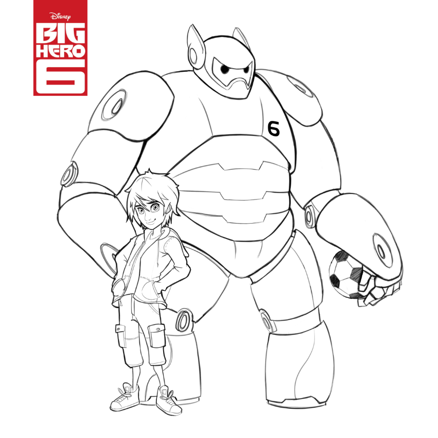 6 color clipart black and white library Big Hero 6 Clipart - Clipart Kid black and white library
