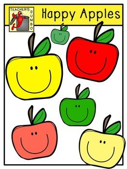 6 color clipart svg free stock Happy+Apples+Clipart+includes+7+images.+6+color+and+1+black+and+ ... svg free stock