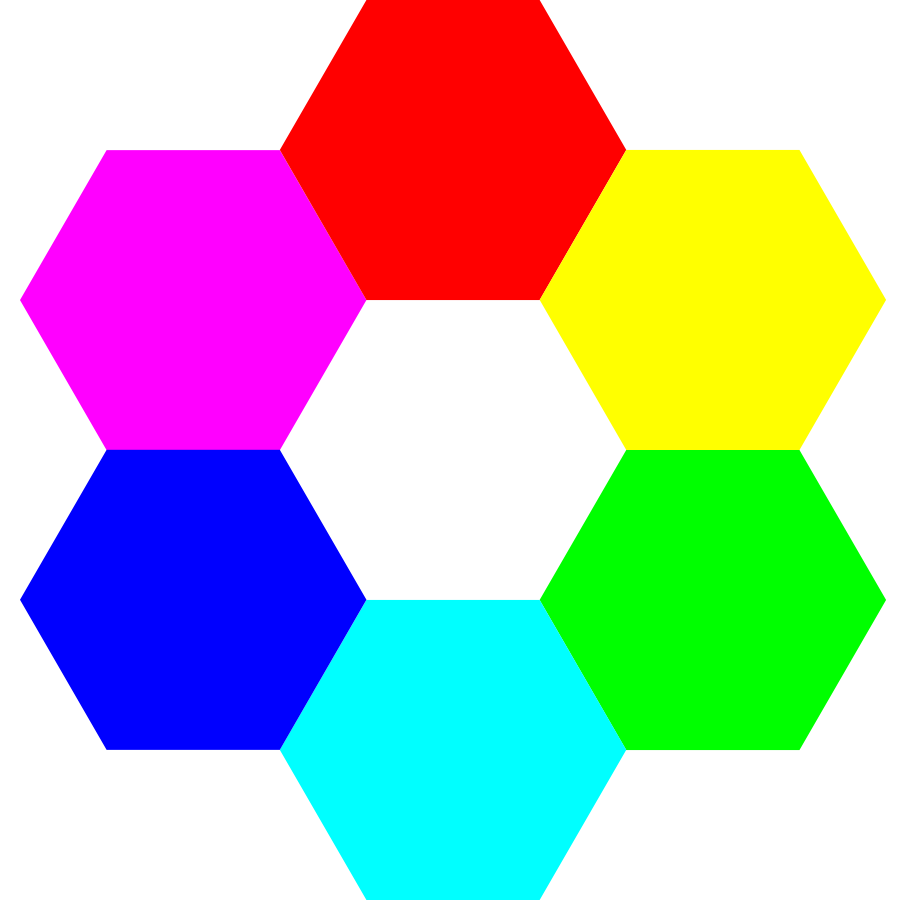 6 color hexagons Clipart, vector clip art online, royalty free ... freeuse download