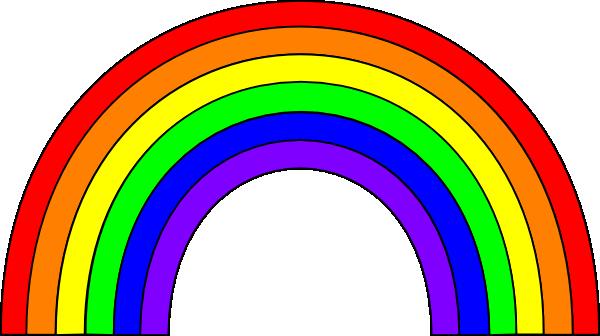 6 Color Rainbow Clip Art at Clker.com - vector clip art online ... svg library stock