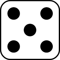 Dots best . 6 dice number clipart
