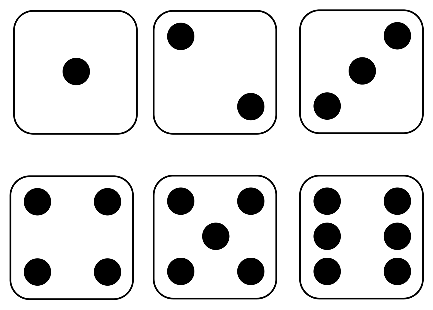 6 dice number clipart. Clipartfest best