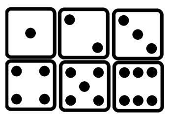 Clipartfest showing . 6 dice number clipart