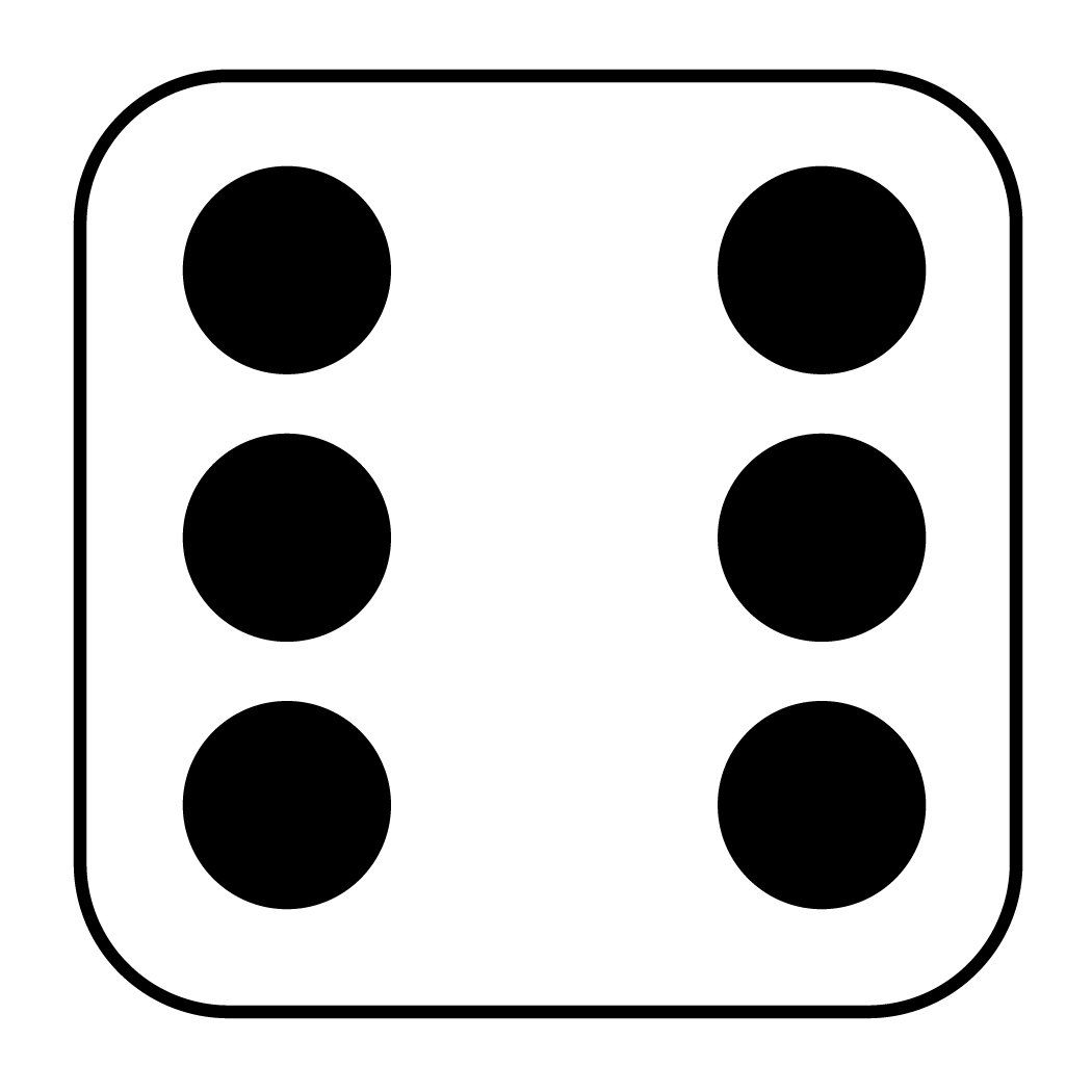 6 dice number clipart