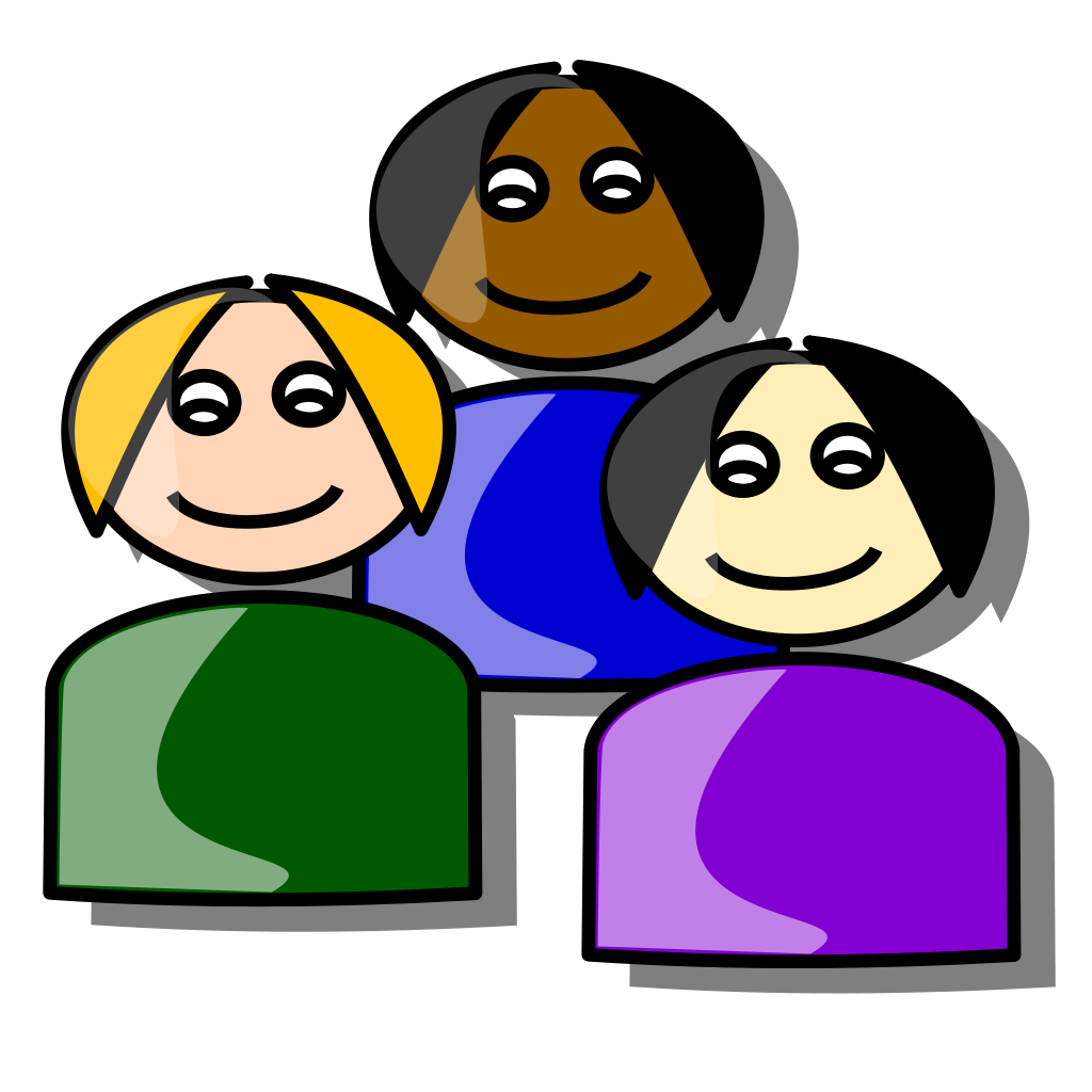 6 friends playing baseball clipart banner download File:People.svg - Wikipedia banner download