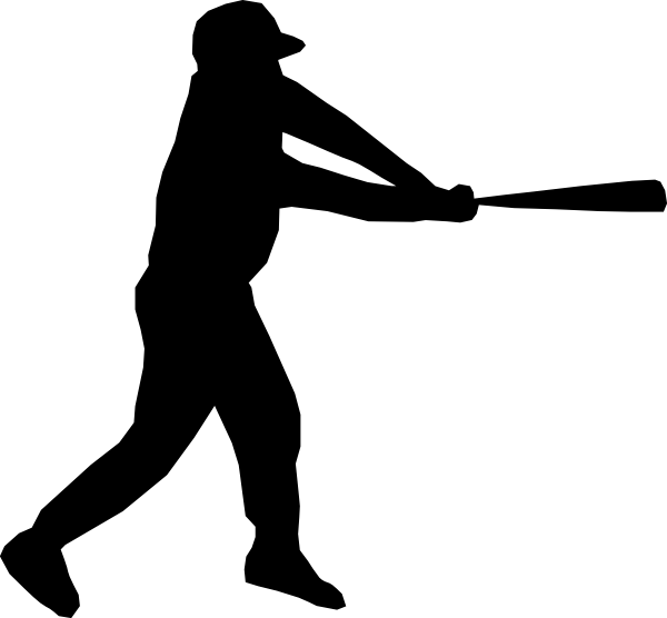 Baseball stitching clipart. Player silhouette clip art