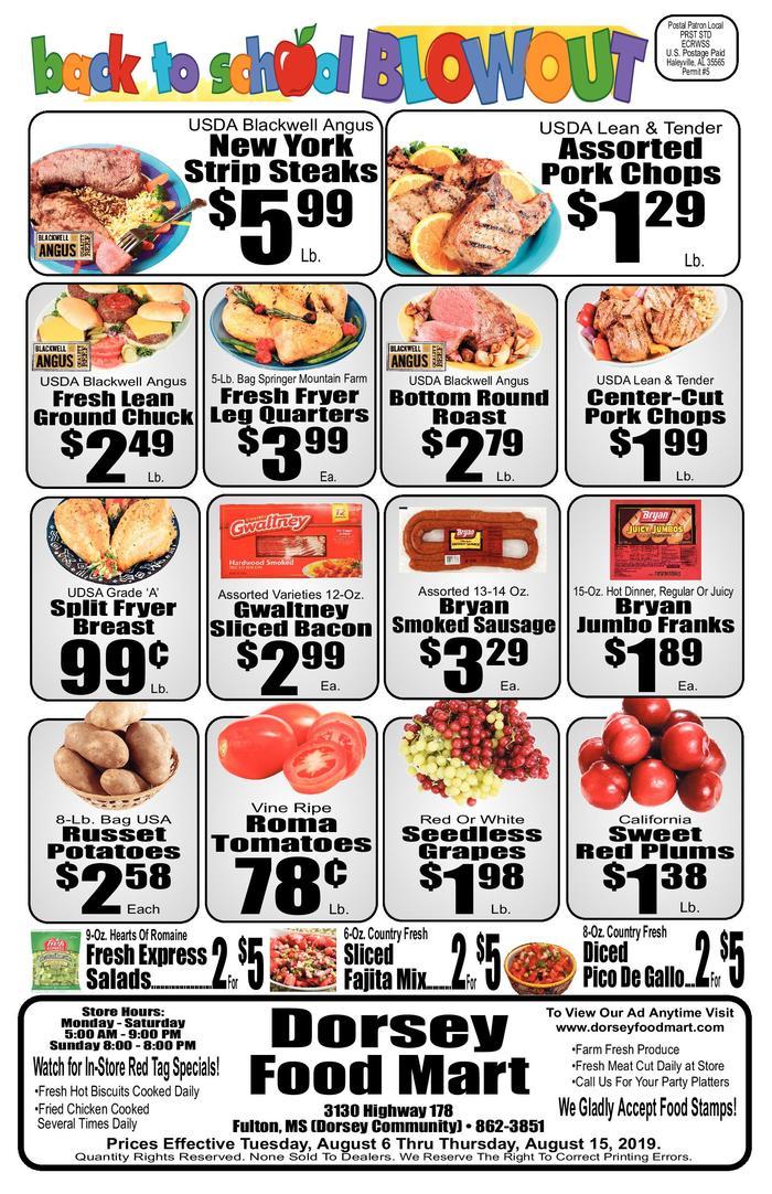 6 lb 9 oz clipart image freeuse library Dorsey Food Mart   Ad Specials image freeuse library