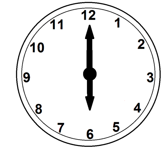 6 o clock clipart vector black and white library Gallery For > Six O Clock Clipart vector black and white library