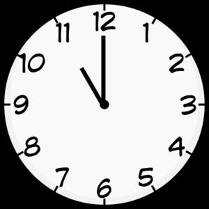 6 o clock clipart jpg library download Eleven O Clock Clip Art at Clker.com - vector clip art online ... jpg library download